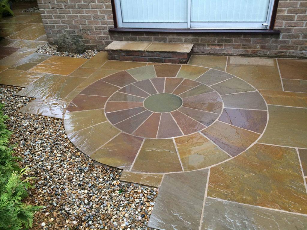 Circular Stone Patio