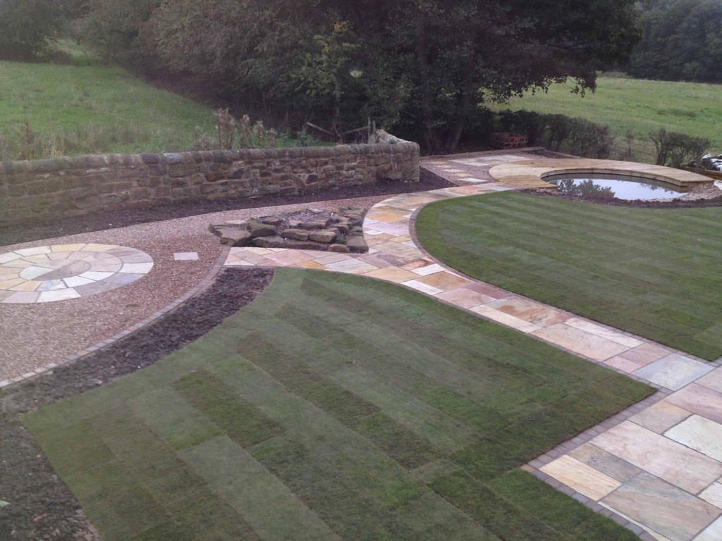 Lawn With Curved Paths