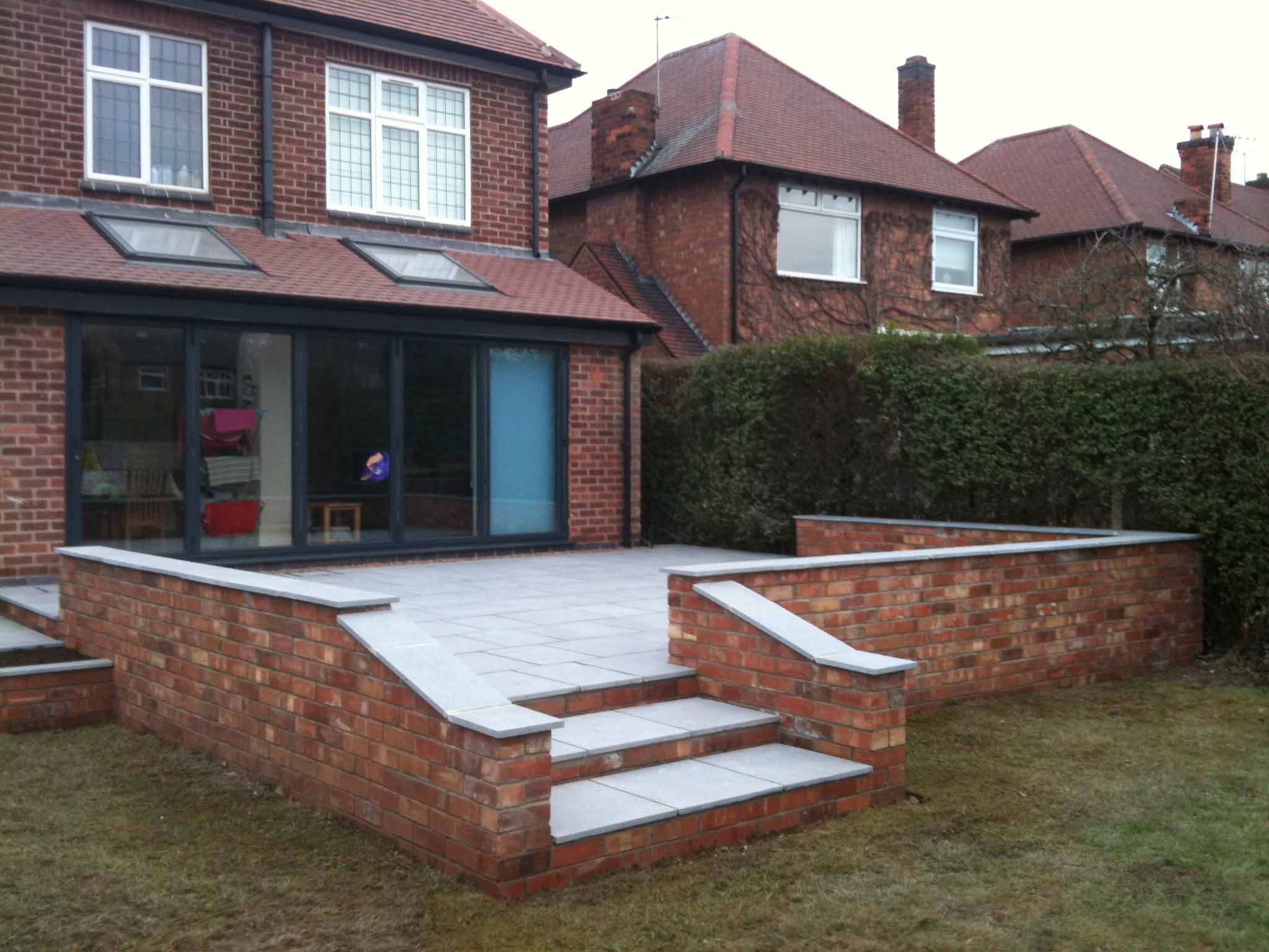 Raised Stone Patio