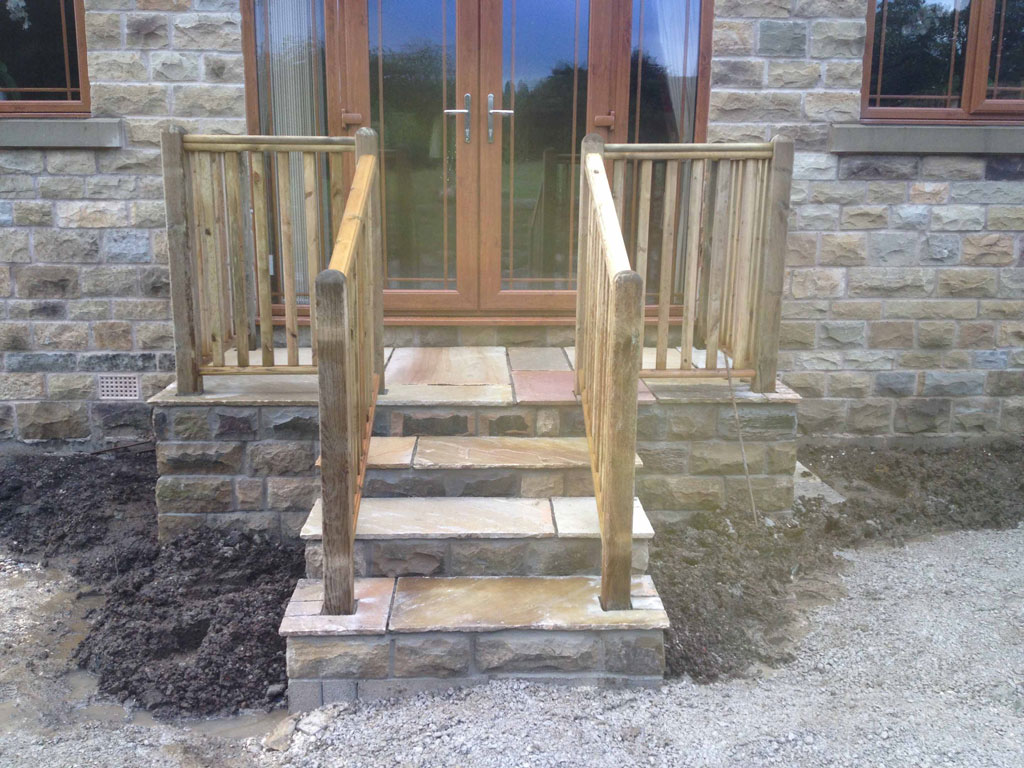 Stone Steps With Fencing