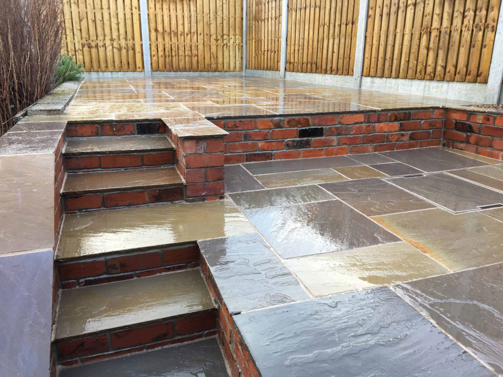 3 tier patio steps