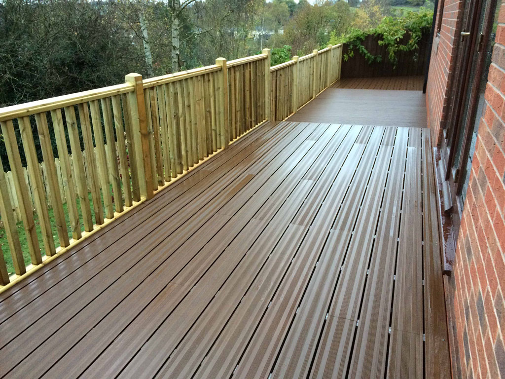 Decking With Brick Steps