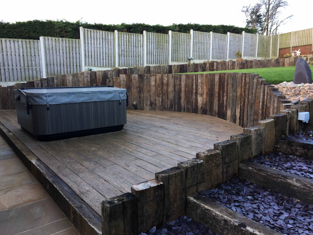 Decking With Hot Tub