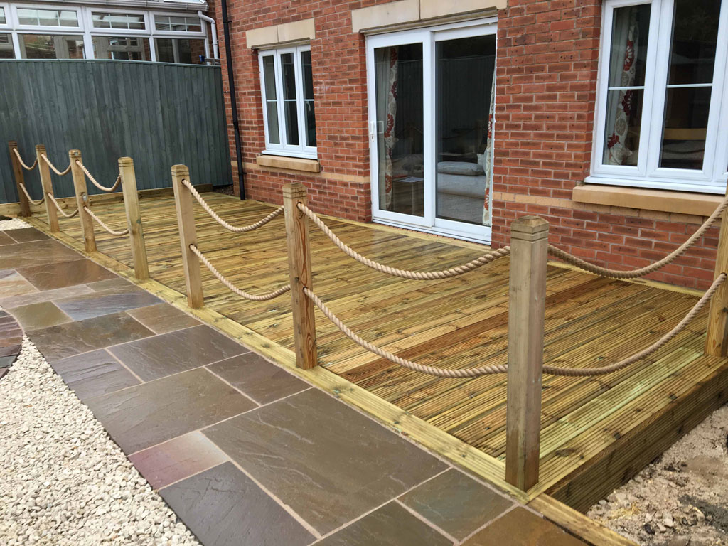 Decking With Rope