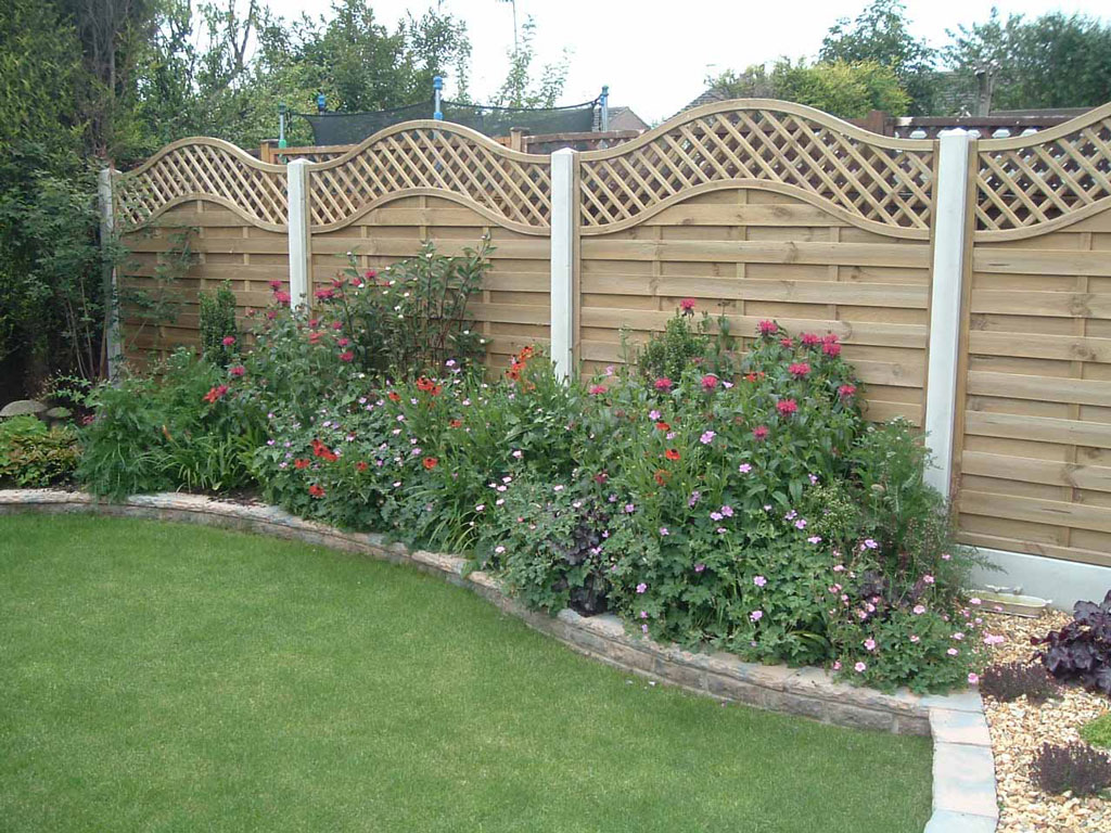 Fence Behind Flower Bed