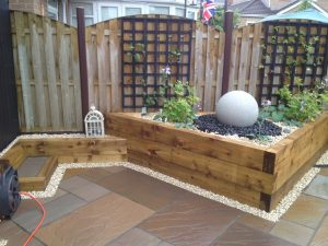 Water Feature with Fencing